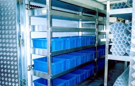 Aluminium Van Shelving Systems